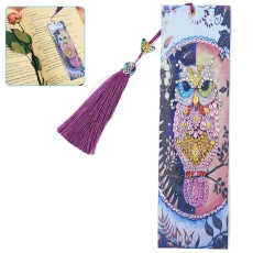 DIY Diamond Painting Leather Bookmark Embroidery Craft Tassel Book Marks Christmas Gifts