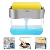 Kitchen Soap Pump Dispenser Dishwashing Brush Press Box Cleaning Accessories