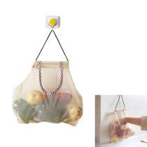 2 PCS Reusable Mesh Bag Hanging Net Tote Bags Fruit Storage Handbag Shopping Bag