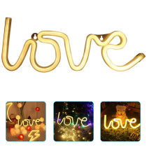 LOVE Sign LED Neon Light Decorative Neon Lamp Wedding Party Decoration USB Charging