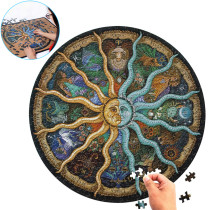 500 Pieces Zodiac Horoscope Puzzle Toy Collection DIY Constellation Jigsaw Paper Puzzles