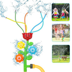 Kids Flower Water Spray Toy Lawn Sprinkler Splash for Backyard Kids Outdoor Toys