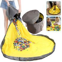 Toy Clean-up Storage Bag Multifunctional Portable Toys Organizer Waterproof Storage Bucket
