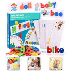 Alphabet Letters Educational Toy Preschool Learning Sight Words Toys for 2-4 Year Children