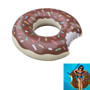 Colorful Donut Swimming Ring Inflatable Cute Giant Pool Float for Summer Outdoor Activities