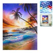 5D DIY Diamond Art Embroidery Sea Landscape Painting Cross Stitch Home Decoration