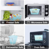 3Pcs Reusable Silicone Food Storage Bag Fresh-keeping Bag Leakproof Containers Ziplock Bag