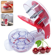 Cherry Pitter Seed Remover Machine Fruit Nuclear Corer With Container Kitchen Accessories