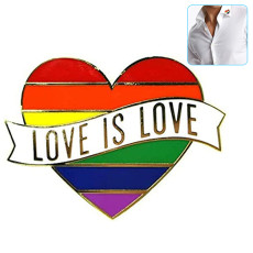 4Pcs Rainbow Heart Enamel Pin Love Is Love Brooches Clothes Lapel Pin Enamel Badges Gifts