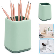 2Pcs Desk Pen Holder Student Stationery Pencil Container Desktop Storage Box Brush Pot