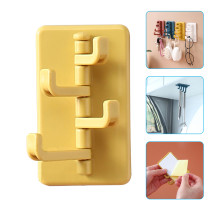 5 Pcs Adhesive Wall Hook 180 Degree Rotatable Strong Stick Hook Kitchen Wall Hanger