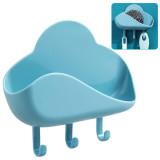 2 Pcs Cloud Shape Soap Box Drain Rack Punch-Free Holder Kitchen Wall Hanging Sticky Hook