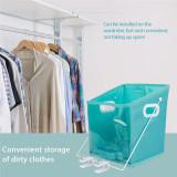 Rotatable Closet Caddy Clothes Storage Box Clothes Organizer Pull Down Shelf Basket