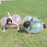 Kids Bubble Ball Toy Inflatable Water Ball Transparent Blow Up Balloon Toys For Outdoor Activities