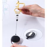 2 Pcs No Touch Door Opener With Key Chain Hygiene Antimicrobial Door Opener Press Elevator Tool