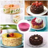 2 Pcs Silicone Cake Round Shape Mold DIY Baking Mold Bakeware Kitchen Tool