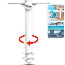 Beach Umbrella Sand Anchor Stand Holder Easy Install Sun Umbrella Base Outdoor Tool