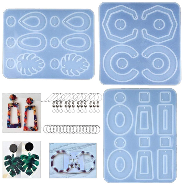 DIY Earring Silicone Resin Mold Earring Pendant Epoxy Resin Molds Jewelry Making Tools