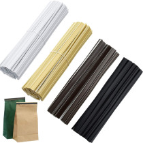 100Pcs Coffee Bag Sealing Tie Peel and Stick Tin Ties Sealing Strip Food Storage Tool