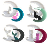 4 Pcs Silicone Resin Mold Moon Girl Cat Wolf Beauty Mermaid Tail DIY Epoxy Resin Molds