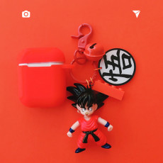 Cartoon Goku red Airpods case Silicone anti-fall Wireless bluetooth headset Airpods1/2