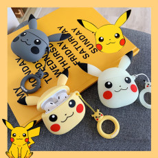 Creative cartoon Pikachu Airpods case cute silicone Apple Wireless Bluetooth Headset cover Airpods1/2
