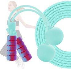 Adjustable 2 in 1 Weighted Ropeless Jump Rope