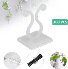 100PCS Plant Climbing Wall Fixture Clips, Plant Fixer Self-Adhesive Hook