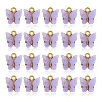 20Pcs Colorful Acrylic Butterfly Charms Pendant Necklace Bracelet Jewelry