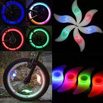 Hot Sale 4 colors Bike Luminous Spoke Light Flashing LED Bicycle Cycling Wheel Wire Tyre Warning Glowing Lamp Indicator Drop