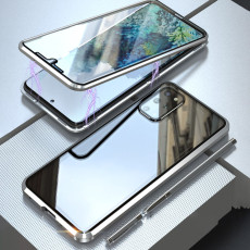 Magnetic Adsorption Metal Samsung Case Double Sided Tempered Glass Full Protective Cover
