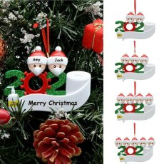 2020 Gift Christmas Mask Decoration Personalized Hanging Ornament