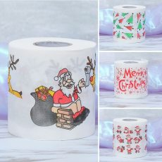 Home Tool Santa Claus Bath Toilet Roll Paper Christmas Supplies Xmas Decor Tissue Cute Christmas Print High quality Navidad
