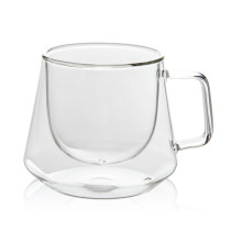 New 200mL Double Wall Glass Mug Office Mugs Heat Insulation Double Coffee Mug Coffee Glass Cup Drinkware Milk