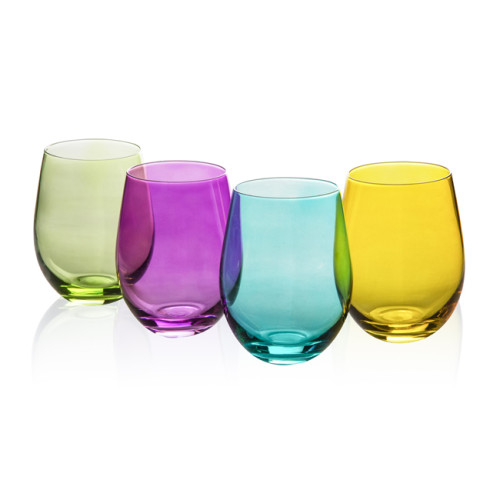 Colorful Crystal Glass for Wine Beer or Beverage,550ml