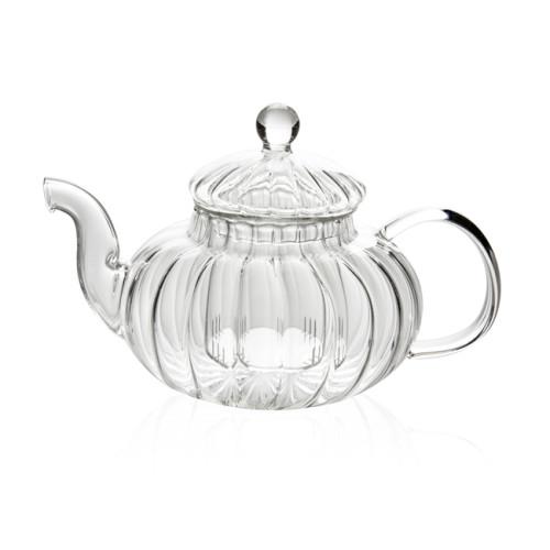 Tea Kettle Infuser - Glass Teapot with Removable Glass Strainer, Microwave & Dishwasher Safe, Tea Pot with Blooming, Loose Leaf Tea Sampler, Tea Maker