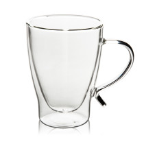 M&D Double-Wall Insulate Glass Coffee Mug, Clear, 10 Ounces Each (Set of 2),300ml