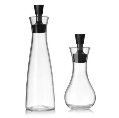 Glass seasoning bottle kitchen seasoning bottle soy sauce pot vinegar oil bottle stainless steel oil pot