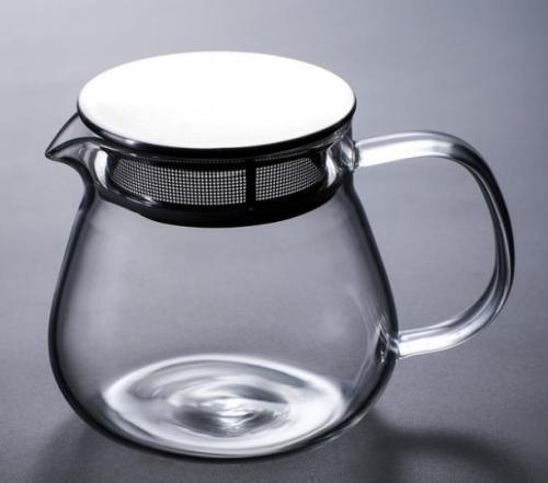 M&D Glass Teapot Coffee Pot with adjustable lid, Microwave & Dishwasher Safe, Tea Pot with Blooming, Loose Leaf Tea Sampler,16oz,460ml