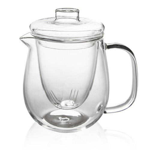 M&D Tea Kettle Infuser - Glass Teapot with Removable Glass Strainer, Microwave & Dishwasher Safe, Tea Pot with Blooming, Loose Leaf Tea Sampler, Tea Maker