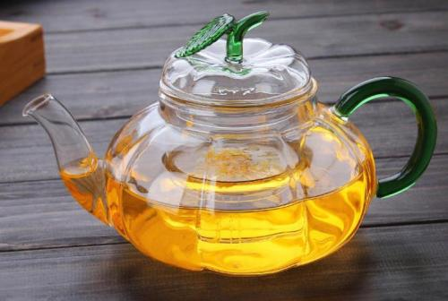 Glass Teapot with Removable Infuser, 600ml Clear Tea Pot for Blooming Tea, Loose Tea, Flowering Tea Pot Gift Set, Scale line Borosilicate Glass Teapot Stovetop Safe Cover Tea Brewer Guide