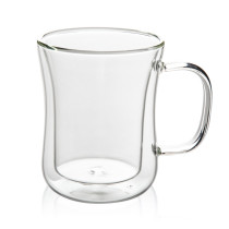 400mL Double Wall Glass Mug Office Mugs Heat Insulation Double Coffee Mug Coffee Glass Cup Drinkware Milk