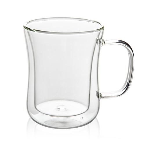 400mL Double Wall Glass Mug Office Mugs Heat Insulation Double Coffee Mug Coffee Glass Cup Drinkware Milk
