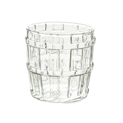 17 oz Oak Barrel Glass Cup, Great for Restaurants, Bars, Parties,500ml