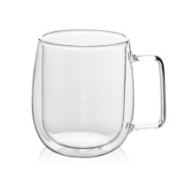 350mL Double Wall Glass Mug Office Mugs Heat Insulation Double Coffee Mug Coffee Glass Cup Drinkware Milk
