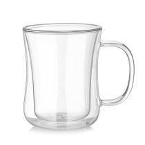 220mL Double Wall Glass Mug Office Mugs Heat Insulation Double Coffee Mug Coffee Glass Cup Drinkware Milk