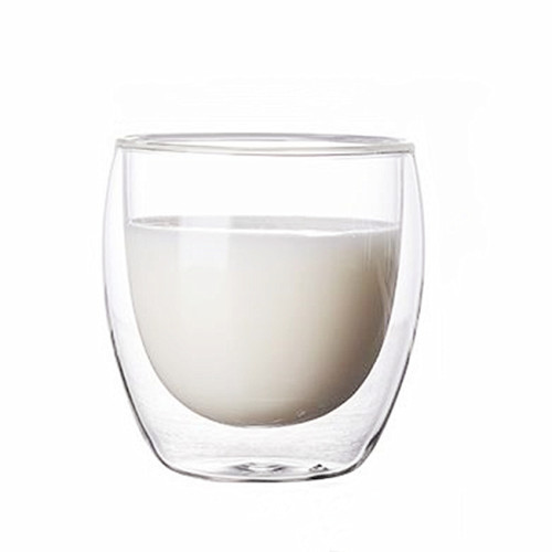 250ml Heat Resistant Double Wall Glass Cup Whiskey Glass Beer Coffee Cup Shot Wine Glass  Creative Beer Coffee Mug Tea Glass Drinkware