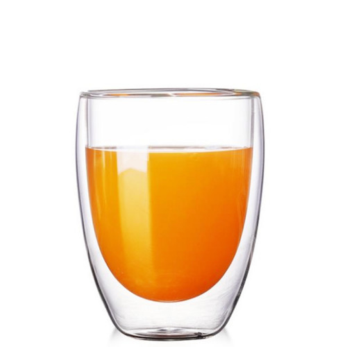 350ml Heat Resistant Double Wall Glass Cup Whiskey Glass Beer Coffee Cup Shot Wine Glass  Creative Beer Coffee Mug Tea Glass Drinkware
