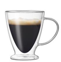 300ml Double Wall Glass Mug Coffee Cup Creative Milk Tea Glass Drinkware