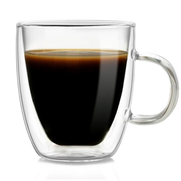 350ml Heat Resistant Double Wall Glass Cup Whiskey Glass Beer Coffee Cup Shot Wine Glass  Creative Beer Coffee Mug Tea Glass Drinkware